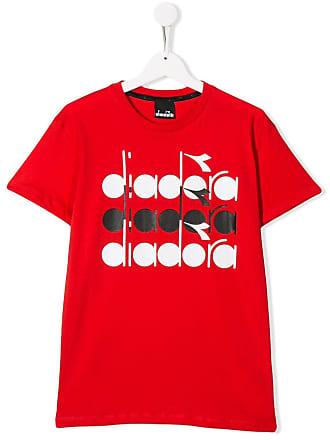 Diadora logo stamp T-shirt - Vermelho