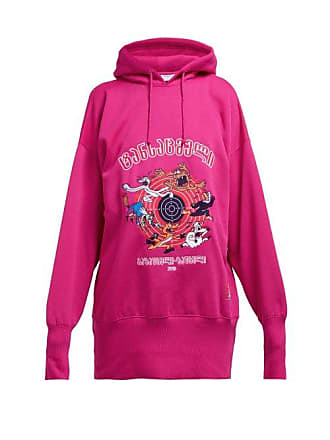 VETEMENTS Cartoon Technical Jersey Hooded Sweatshirt - Womens - Pink
