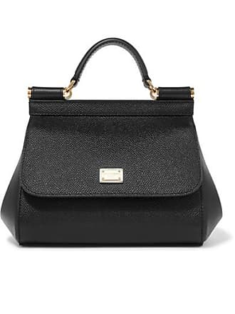 de8b988bd0d Dolce & Gabbana Sicily Micro Textured-leather Tote - Black