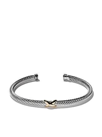 David Yurman 18kt yellow gold X silver cuff bracelet - S8
