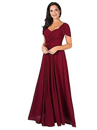 66c30951bd9c4 Krisp Damen Kreuz Front Bodenlanges Ballkleid, Abendkleid mit  Herzausschnitt und Feinen Details- Gr.