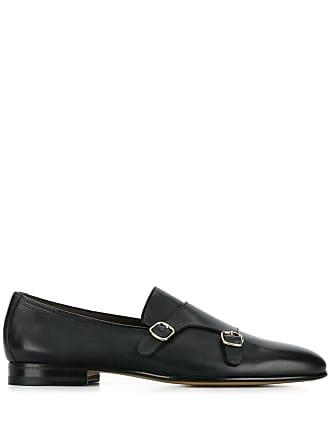 Santoni buckle monk shoes - Black