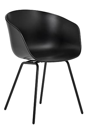 HAY AAC 26 Armlehnstuhl Gestell Stahl schwarz - schwarz/Sitzschale Polypropylen/Gestell Stahl schwarz pulverbeschichtet/mit Kunststoffgleitern