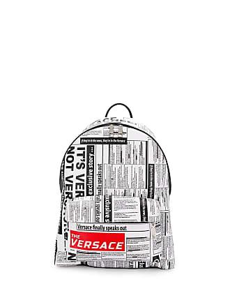 Versace Headline print backpack - Branco