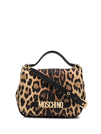 Moschino leopard print cross body bag - Yellow