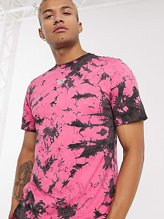 Reebok Classics - T-shirt tie-dye rosa e nera - In esclusiva per ASOS-Nero