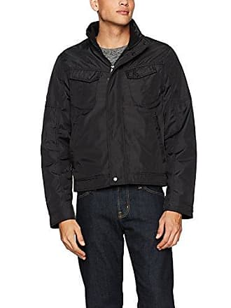 William Rast Mens Micro Tech Bomber Jacket, Black Medium