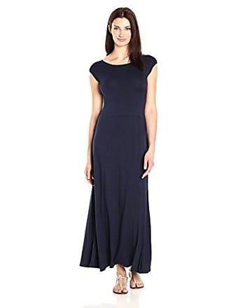 Karen Kane Womens V-Neck Maxi Dress, Navy, M