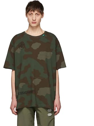 ce0a9ef50132 Off-white Green and Brown Camo Stencil T-Shirt