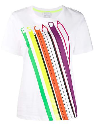 Escada Sport striped logo T-shirt - Branco