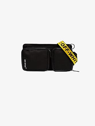 Off-white black Cordura logo print cross-body bag