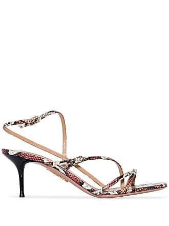 Aquazzura Carolyne 60mm snakeskin-effect sandals - Estampado