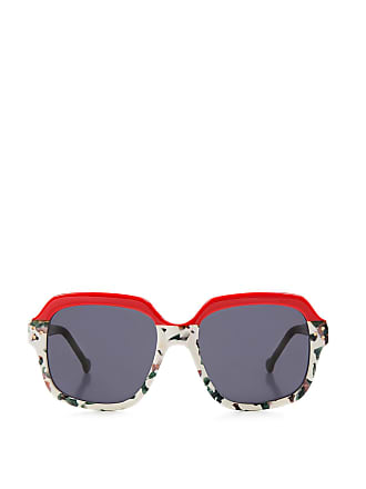 126c6640023b Preen PRESTON Square-frame SUNGLASSES Red / Floral / Moss