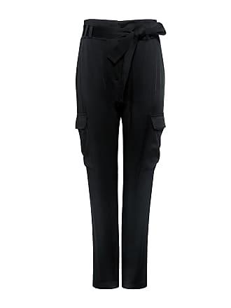 A.L.C. Adam Tie-Waist Tapered Pants Black