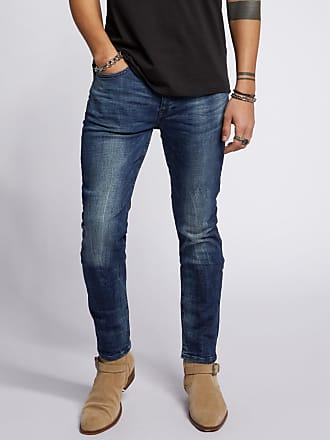 Tigha Herren Slim Fit Jeans Morty 9021 used blau (mid blue)