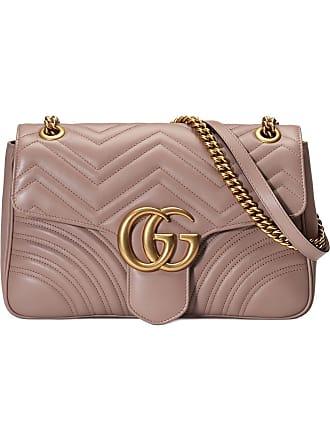 08703b3f4 Gucci Bolsa tiracolo GG Marmont matelassê média - Rosa