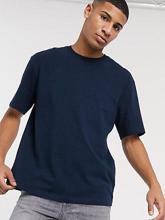 Topman Marineblaues Oversize-T-Shirt-Navy