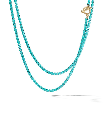 David Yurman 14kt yellow gold and coloured steel DY Bel Aire collection necklace - L4trq