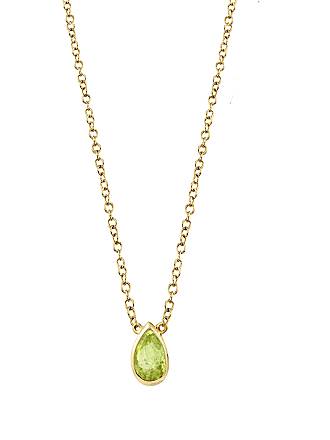 The Last Line August Birthstone Teardrop Necklace