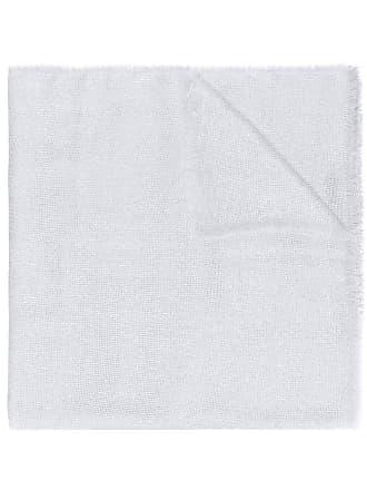 Blanca Cachecol com franjas - Branco