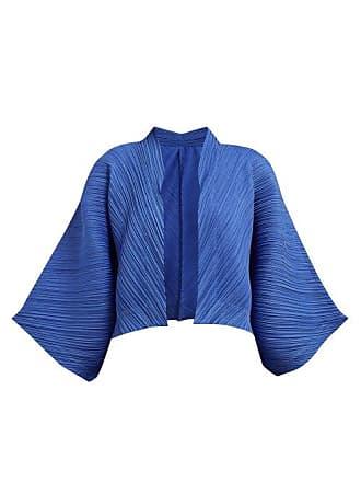 Pleats Please Issey Miyake Technical Pleat Jacket - Womens - Blue