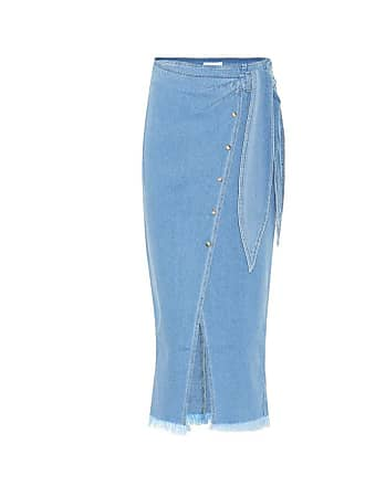 Nanushka Denim side-tie skirt