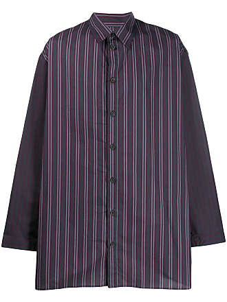 Qasimi classic striped shirt - Blue
