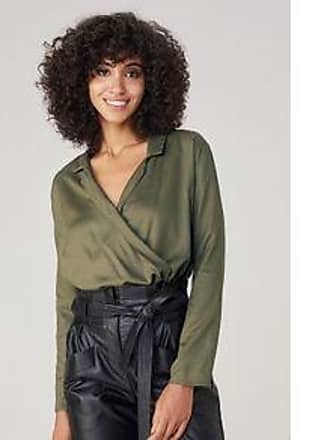 Dzarm Blusa Em Tecido Acetinado - Verde