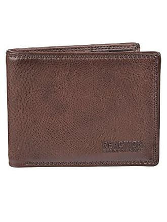 Kenneth Cole Reaction Mens RFID Blocking Security Passcase Bifold Wallet, saddle Erben, One Size