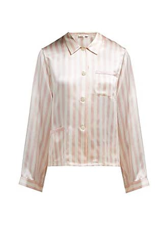 528f5e16c99af Morgan Lane Ruthie Striped Silk Charmeuse Pyjama Top - Womens - Pink Stripe