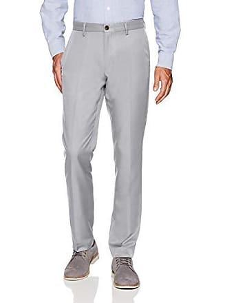 Amazon Essentials Mens Slim-Fit Flat-Front Dress Pants, Light Grey, 29W x 32L