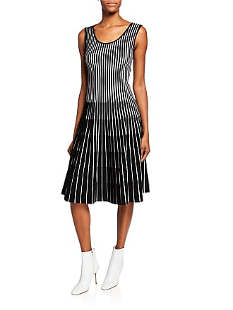 2380b93ea91 Tomas Maier Sleeveless Striped Fit-and-Flare Dress