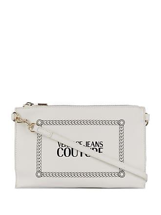 Versace Jeans Couture logo print clutch - Branco