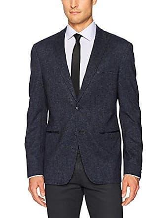 John Varvatos Mens 2B Peak Soft Jacket 2 BIFC, Indigo, 40