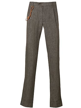 Berwich straight-cut trousers - Marrom
