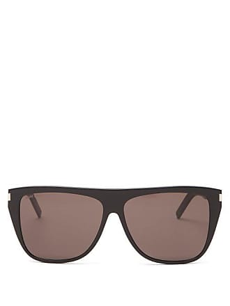 1135c155208b Saint Laurent Slim Flat Top D Frame Acetate Sunglasses - Womens - Black