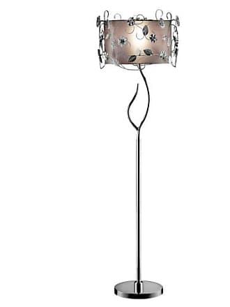 ORE Ore International K-5121F Silver Crystal Floor Lamp