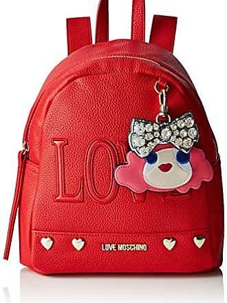 9f71e15a63 Love Moschino Borsa Pebble Pu, Spalla Donna, (Rosso), 8x27x24 cm (