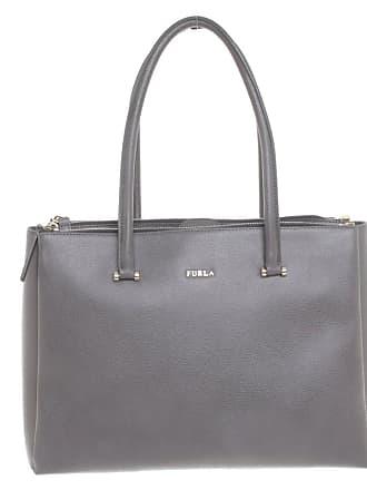 432b3a9d762db Furla gebraucht - Handtasche aus Leder in Grau - Damen - Leder