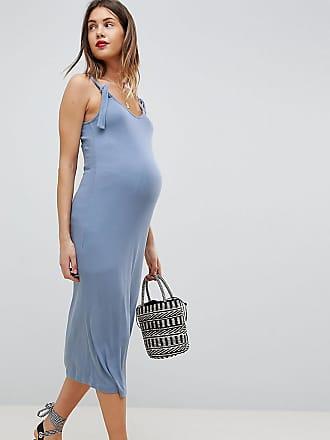 77e46d33329b05 Asos Maternity ASOS DESIGN Maternity knot strap rib column dress