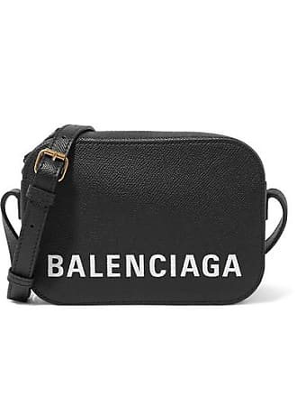 879a425cdaf10 Balenciaga Ville Xs Aj Printed Textured-leather Shoulder Bag - Black