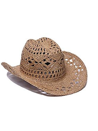 ále by Alessandra Womens Caballera Crochet Toyo Cowboy With Memory Wire Brim, Toast, One Size