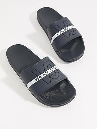 827f6a2fe7e56 Versace Jeans Couture Mules à logo - Bleu marine - Navy