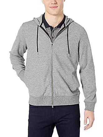 Theory Mens Cotton Stretch Zip Hoodie, Black/White XXL