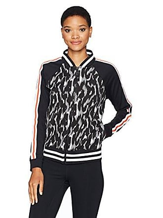 Trina Turk Recreation Womens Leopard Luxe Jacquard Bomber Jacket, Black XL