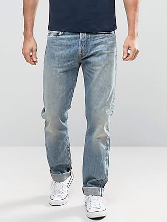 Edwin ED-49 Listed - Jeans comodi rossi con cimosa-Blu