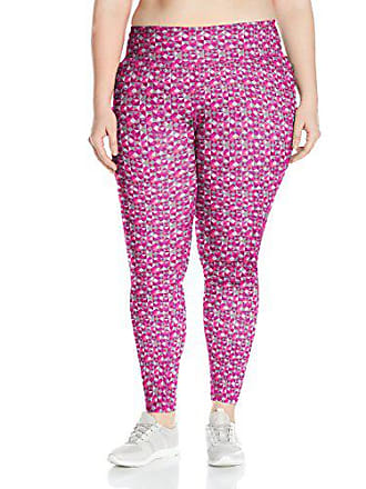 Fruit Of The Loom Fit for Me by Fruit of the Loom Womens Plus Size Legging, Grape Juice/Triangle Geo Print, 3X