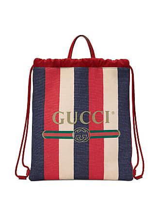 Gucci Gucci Print medium drawstring backpack - Red 0758f5fa00a6a