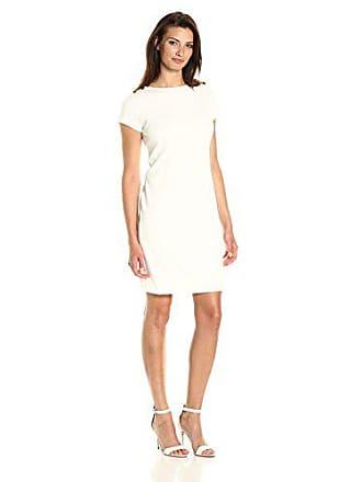 7fdd5c5f Ellen Tracy Womens Ponte Dress with Shoulder Hardware Detail Ivory 6