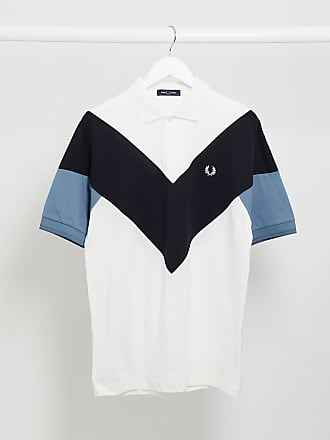 Fred Perry chevron polo shirt in white and black